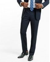 Express slim photographer navy plaid wool suit pant