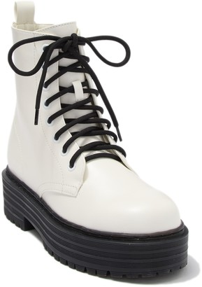 Mia Cortez Lace-Up Combat Boot