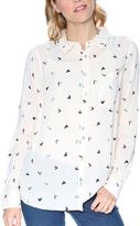 Grayson Ivory Bird Button-Up