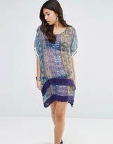 Gypsy 05 Printed Silk Hi Lo Oversized Dress