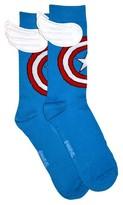 Bioworld Captain America Crew Socks with Wings