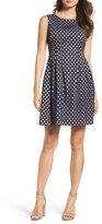 Vince Camuto Petite Women's Eyelet Fit & Flare Dress