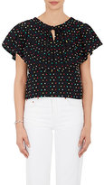 Ace&Jig Women's Clifton Swiss Dot Jacquard Cotton Crop Top