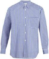 Comme des Garcons Forever point-collar cotton-gingham shirt