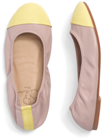 Brooks Brothers Leather Cap Toe Ballet Flats