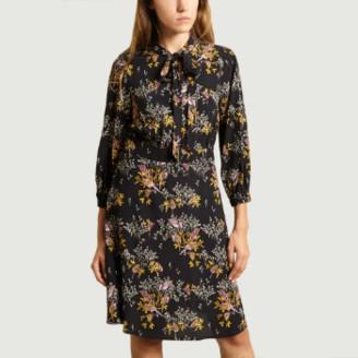 Bellerose Black Viscose Printed Hills Dress - 0 | viscose | black - Black/Black