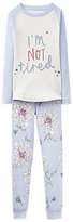 Joules Little Joule Children's I'm Not Tired Pyjamas, Sky Blue
