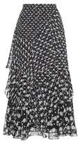 Peter Pilotto Ruffled Silk Midi Skirt