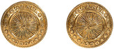 One Kings Lane Vintage Chanel Coin Clip Earrings - 1990 - Vintage Lux - gold