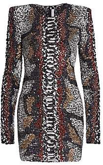 Naeem Khan Women's Python-Print Bodycon Dress