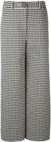 Awake houndstooth palazzo pants - women - Cotton/Polyester/Polyurethane/Wool - 40