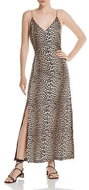 Notes Du Nord Marin Silk Stretch Leopard Print Maxi Dress