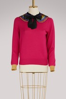 Gucci Cashmere sweater with embroidered collar