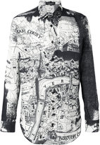 Alexander McQueen London Map shirt - men - Silk/Cotton - 15