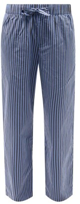 Tekla Striped Organic-cotton Pyjama Trousers - Blue Stripe