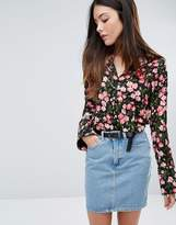 Warehouse Cherry Blossom Printed Blouse