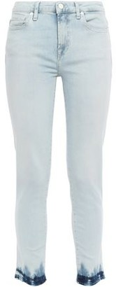 7 For All Mankind Pyper Cropped Bleached Mid-rise Slim-leg Jeans