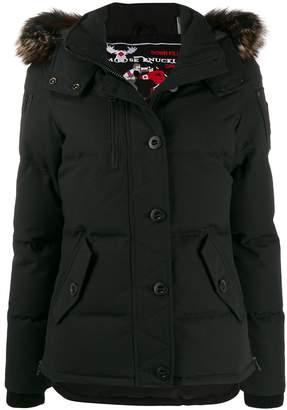 Moose Knuckles faux fur trimmed puffer jacket