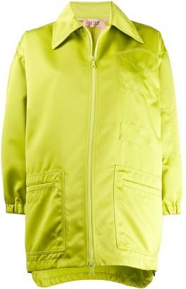 No.21 oversized zipped jacket
