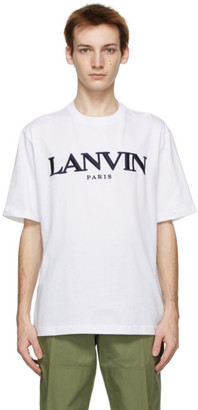 Lanvin White Embroidered Logo T-Shirt