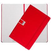 Pantone NEW Tomato Large Ruled Elastic Band Notebook