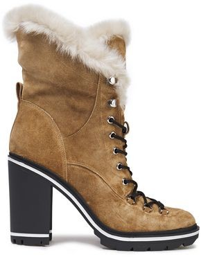 Sigerson Morrison Odelia Faux Fur-lined Leather And Suede Boots