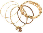 Sigrid Olsen Gold and Brown Multi Textuered Bangle Bracelets