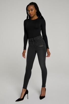 Good American Good Legs Leopard Pockets | Black092