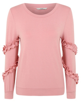 George Frill Trim Sleeve Sweatshirt