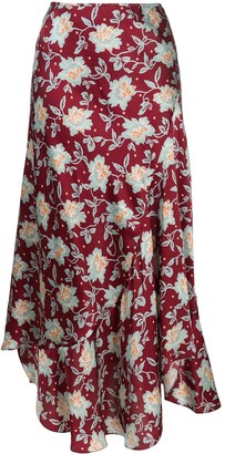 Chloé floral print midi skirt