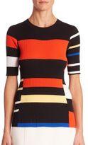 Proenza Schouler Crewneck Colorblock Pullover