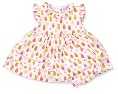 Kissy Kissy Girls' Cotton Pineapple Print Dress Set - Baby