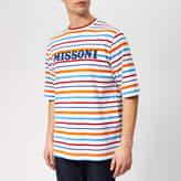 Missoni Men's Logo Stripe TShirt - White/Multi Stripe