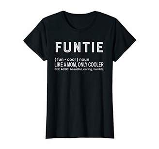 Womens Aunt T Shirt For Women Christmas Gift Funtie Definition