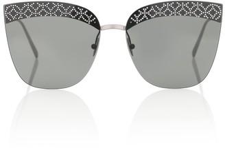 Alaã ̄A Embellished cat-eye sunglasses