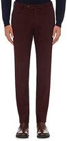 Incotex Men's S-Body Slim-Fit Stretch-Cotton Trousers-BURGUNDY