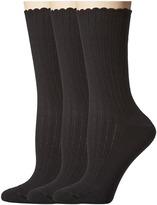 Hue Scalloped Pointelle Socks 3-Pack