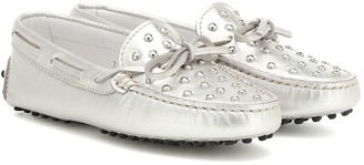 Tod's Junior Gommino metallic loafers