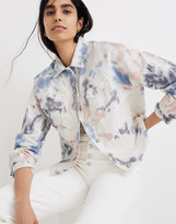 Madewell The Raglan Oversized Jean Jacket: Tie-Dyed Edition