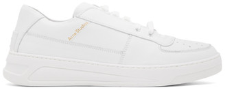 Acne Studios White Perey Lace-Up Sneakers