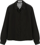 See by Chloe Sequin-embellished silk-chiffon blouse