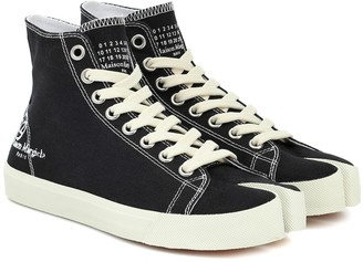 Maison Margiela Tabi canvas high-top sneakers
