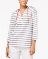 Karen Scott Hooded Layered-Look Active Top, Only at Macy's