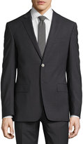 Versace Slim-Fit Pinstripe Two-Piece Wool-Blend Suit, Gray/Blue
