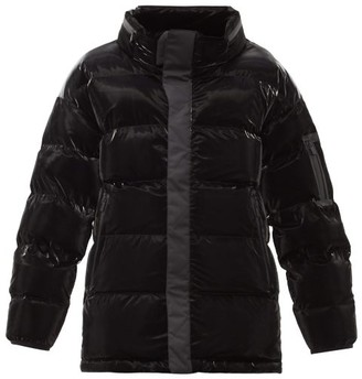 TEMPLA Gloss Quilted Down Jacket - Black