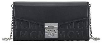 MCM Large Patricia Monogram Leather Wallet-On-Chain
