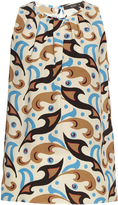 Etro Abstract paisley-print sleeveless silk-crepe top