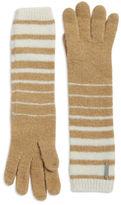 Lauren Ralph Lauren Striped Cuff Knit Wool-Blend Gloves