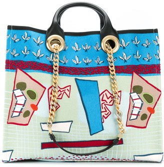 Ports 1961 Abstract Embroidered tote bag