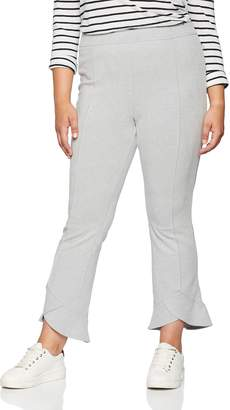 ELVI Women's The Ola Fold Frill Hem Cropped Trousers in Brushed Jersey